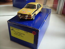 Hand Built Model Competition 43 Opel Commodore Monte Carlo 1973 in Yellow 1:43