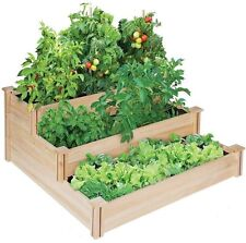 NEW CEDAR 4 ft. x 4 ft. x 21 in. 3-TIERED RAISED CEDAR VEGETABLE GARDEN BED