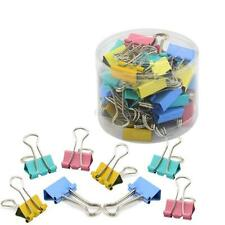 NEW 60X Office Multi color 15mm Width File Paper Organizer Metal Binder Clips