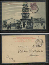 Straits  Settlements postal card to  Hanoi   1905        KL0809