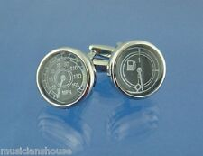 Car Dials Fuel Gauge Speedometer Speedo CUFFLINKS Mens Present GIFT Boxed