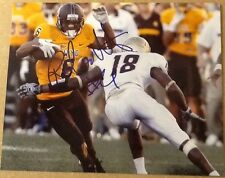 Robert Herron Signed 8x10 Football Photo Wyoming  W/ COA & Exact Proof