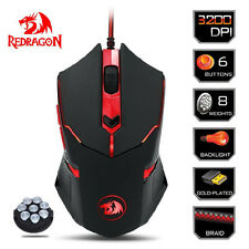Redragon M601 Gaming Mouse 6 Buttons 3200DPI USB Mice Backlight For Gamer NEW