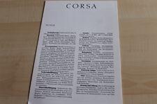 133830) Opel Corsa A - technische Daten & Ausstattungen - Prospekt 07/1987