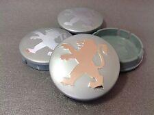PEUGEOT Cache Moyeux Centres de Roue Chrome Emblem 4p x 60mm/55mm  *NEUF*