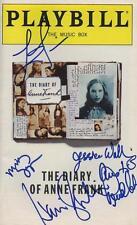 THE DIARY OF ANNE FRANK signed LINDA LAVIN, HARRIS YULIN, AUSTIN PENDLETON + 2
