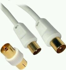 Extra Larga/5M Oro TV RF macho Cable Aéreo Coaxial Enchufe Digital para conectar el plomo