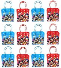 NEW 12x Disney Mickey & Friends Birthday Party Favor Goody Loot Gift Candy Bags~