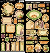 "GRAPHIC 45 ""AN EERIE TALE"" CHIPBOARD SETS 1 & 2 HALLOWEEN SCRAPJACK'S PLACE"