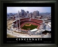 CINCINNATI REDS @ GREAT AMERIACAN BALLPARK 22X28 FRAME