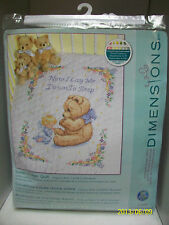 "DIMENSIONS STAMPED CROSS STITCH KIT ""SWEET PRAYER QUILT"" 34X43 SEALED BABY QUILT"