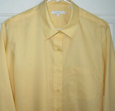 FOXCROFT Long Sleeve Wrinkle-Free Gold Blouse / Shirt / Top Womens SIZE 16 NEW