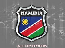Autocollant Résine 3D Relief Emblème Drapeau Namibie - Adhésif