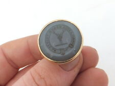 9ct/ 9k gold early 19th century large & heavy armorial hard stone seal ring, 375