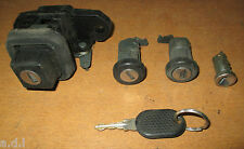 FIAT UNO MK2 LOCK SET Driver & passenger door Locks / Ignition / Boot + Key
