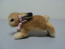 ADORABLE VINTAGE 1950's STEIFF STANDING MOHAIR COLLECTOR RABBIT, BUTTON IN EAR