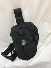 Eagle Industries Black SAS Gas Mask Drop Leg Pouch Duty LE SWAT SEALs