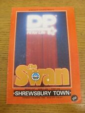 02/04/1985 Welsh Cup Semi-Final: Swansea City v Shrewsbury Town  (scratched to f