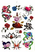Temporay Body Jewelry Tattoo Disposable Tatoo Tattooing Bodyart Rose Heart