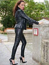 Lederhose Leder Hose Schwarz Hauteng Leggings US 4 XS 34