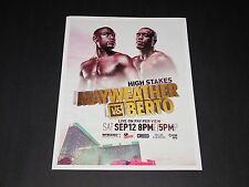 "Floyd Mayweather vs Berto ""High Stakes"" 15""x12"" Matted Boxing Promo Poster NEW"