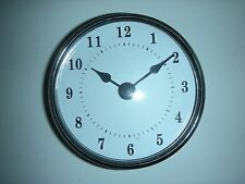 "3-1/8"" (80MM) QUARTZ CLOCK FIT-UP/Insert, Silver Trim,Arabic Numeral, White Face"