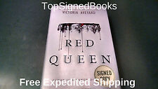 SINGED Red Queen by Victoria Aveyard, Hardcover book first edition Autographeed