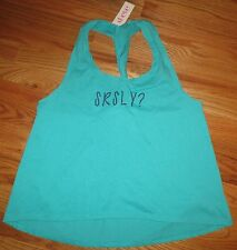St. Eve Twisted Tank   Emerald color - size Large New with tags