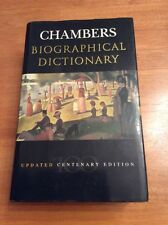 Chambers Biographical Dictionary: Updated Centenary Edition (Hardback, 1997)
