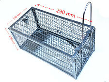 Rat Trap Cage Small Live Animal Pest Rodent Mouse Control Bait Catch -Brand new