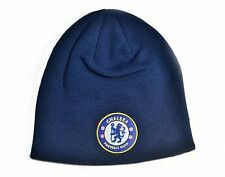 Chelsea FC woven turned up Beanie Hat (Navy) - official licensed product  (bb)