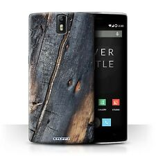STUFF4 Case/Cover for OnePlus One/Tree Bark/Burnt Wood
