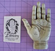 Palmistry Hand Sculpture Fortune Telling Palm Reading & Booklet Occult Wicca