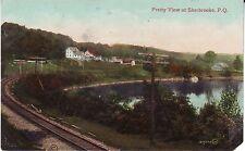 Canada Quebec Sherbrooke - River Bank old unused postcard