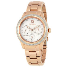 Citizen Silhouette Crystal White Dial Rose Gold-tone Ladies Watch FD2013-50A