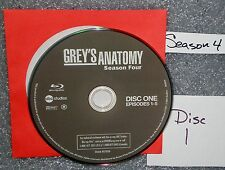 VG Blu Ray Replacement Disc # 1 Grey's Anatomy WS Fourth Season NOT set NO GSP