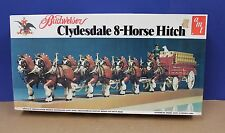 "AMT 7702 Budweiser Clydesdale 8-Horse Hitch Kit 1970s MIB 30"" 1:20"