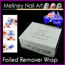 200pc Foiled UV Gel Nail Polish Remover Wraps Pad Nail Art Cleaner Acetone