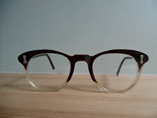 Vintage Blood Red Cat Eye Glasses & Vintage Grey Glasses Case