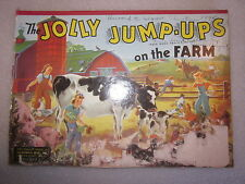 1940 The Jolly Jump-Ups On The Farm McLoughlin Bros #2921 picture book