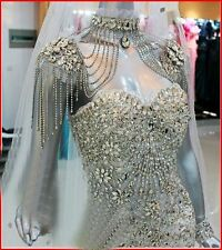 YZ SWAROVSKI Luxury Crystals Sheath Beads Gown
