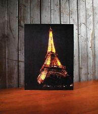 Eiffel Tower Paris France Lighted Canvas Wall Decor Sign NEW - FREE SHIPPING!