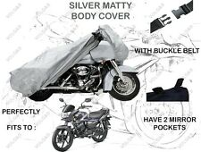 Volga Silver Bike Body Cover With Mirror Pocket For Honda Cb Shine