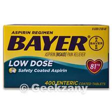 Bayer Low Dose Aspirin Regimen Pain Reliever 81mg, 400 Enteric Coated Tablets