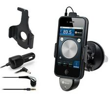 DEXIM iCRUZ FM TRANSMITTER HANDSFREE CAR HOLDER CHARGER KIT FOR iPHONE 3GS 4 4S