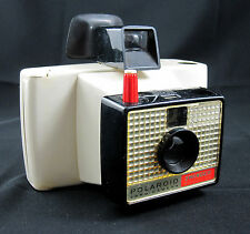 Polaroid Swinger Model 20 Land Camera White & Black Vintage 1960's with Handle