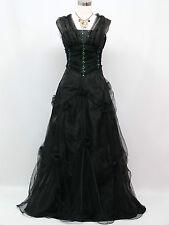 Cherlone Übergröße Schwarz Ballkleid Brautkleid Abendkleid Brautjungfer Kleid 50