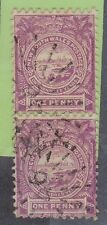 (XS22) 1888 NSW 1d violet vertical pair used in QLD (A)