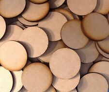 5x 50mm Round MDF Wood Bases Laser Cut Crafts Wargames Miniatures FAST SHIPPING