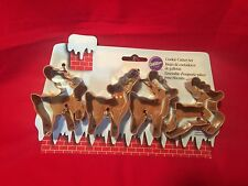 Wilton Christmas Metal Baking Reindeer Shaped Cookie Cutter Set of 4